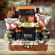 image of homemade retirement gift baskets