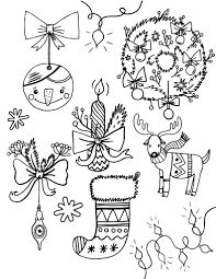 Small Picture Free Christmas Decorations Coloring Page