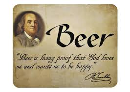 Ben Franklin Beer Quote Beauteous Benjamin Franklin Beer Quote Mouse Pad Xenos Gifts