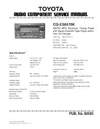 panasonic cq cp137u service manual schematics panasonic matsushita