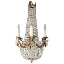 french empire bronze crystal bows chandelier