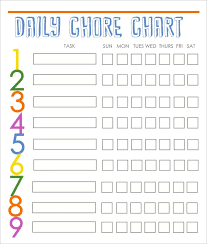 Daily Behavior Chart Template Unique Chore Charts Templates
