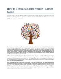 Become A Social Worker How To Become A Social Worker By Tradewind Australia Issuu