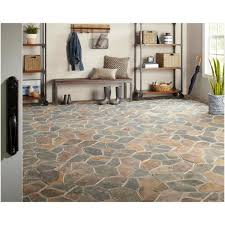 slate flagstone floor and wall tile