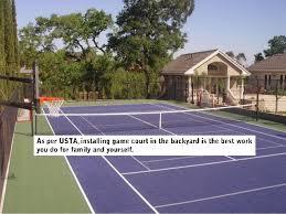 Sport Court Experienced CourtBuilders™  Sport CourtBackyard Tennis Court Cost