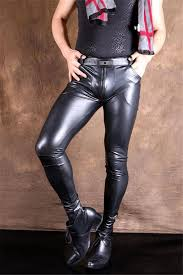 2019 men y charm faux leather pants trousers slim elastic stretchy casual black from balsamor 66 24 dhgate com