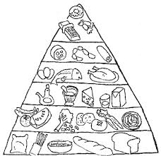 Small Picture Food Pyramid With Fish And Other Ingredients Coloring Page