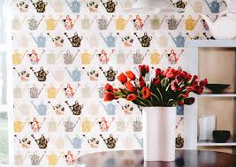 kitchen concepts vinyl wallpaper cu25966 watering cans