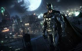 Batman Arkham Knight Video Game Poki Night Rain Full Moon Hd