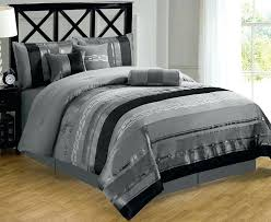 white and silver bedding black and silver comforter simple bedroom with metallic regard to sets plan