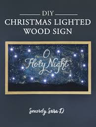 Wooden Christmas Sign With Lights Diy Christmas Lighted Wood Sign Sincerely Sara D Home