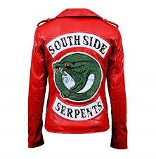 riverdale cheryl blossom women southside serpents red biker jacket
