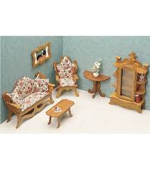 cheap wooden dollhouse furniture. Greenleaf Dollhouse Furniture-Living Room Set Cheap Wooden Furniture