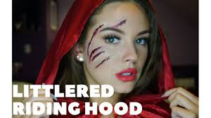 little red riding hood makeup tutorial scratched face fx