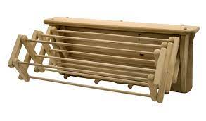 expandable wall mounted wooden clothes