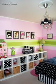 expedit lighting. Pink Girls Room With Black And White Stripes, Polka Dots Expedit Lighting I