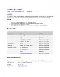 Java Sample Resume 2 Years Experience Java Resumes For One Year Experience Sidemcicek Com Sample Resume 24 1