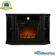 black electric fireplace a tv stand corner or flat