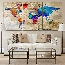 world map wall art amazon