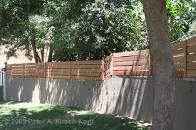 modern horizontal wood fence gate