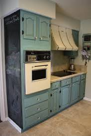chalk paint kitchen cabinetsPainting Oak Kitchen Cabinets With Blue Chalk Paint Color Plus