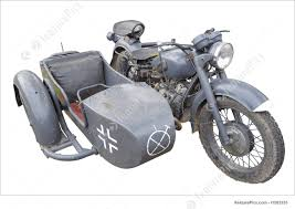 image of ww2 military motorcycle with sidecar