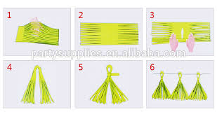 paper tassel garland decoration for photo shoot background photo