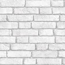 Muriva Brick Vinyl White Wallpaper   Departments   DIY at B\u0026Q ...