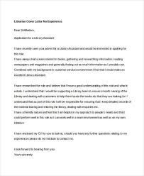 Cover Letter For Library Job With No Experience Adriangatton Com