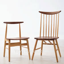 classic modern design solid oak and solid walnut wooden dining chair europe simple design wooden chair