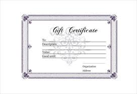 30 Blank Gift Certificate Templates Doc Pdf Free Premium