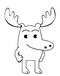 Small Picture Bull Moose Animal Coloring Pages Womanmatecom