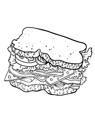 Small Picture Printable sandwich coloring page Free PDF download at http
