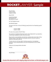 Request to Close a Fraudulent Bank Account