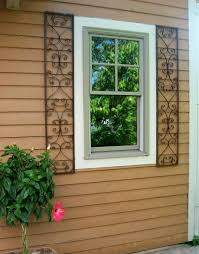 New Orleans Wrought Iron Exterior Window Shutters - Shutters window exterior