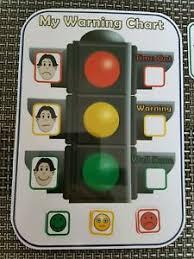 Traffic Light Chart Behaviour Details About Traffic Light Behaviour Chart Non Verbal Communication Sen Autism Adhd Boy Face