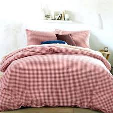 home textile quality cotton knitting gingham consort red bedding sets queen size king duvet cover bed