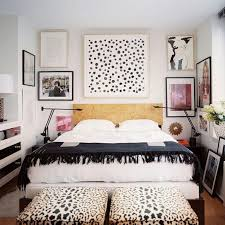 artistic bedroom with leopard print