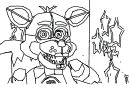 Fnaf Coloring Pages Anime Foxy And Mangle Coloring Page Beautiful