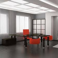 trendy office designs blinds. Great Interior With Large Windows And Blinds Shades Plus Modern Furnitures For Home Office Design Trendy Designs E
