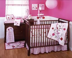 changing pad with cushions beside cute table lamp faced with cradles plus blossom bedding