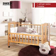 solid wood baby furniture. Foldable Solid Wood Baby Cot Frame (Natural Colour) Malaysia Furniture U