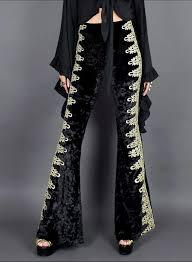 Bell Bottom Pajama Design High Waist Velvet Bell Bottom Pants