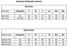 Size Chart Shop Shakaloha Com