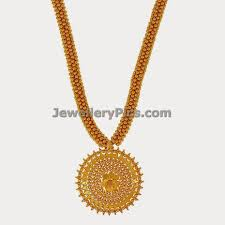 Gold Jewellery Pendant Designs Beautiful 22k Long Gold Necklace With Small Round Balls And
