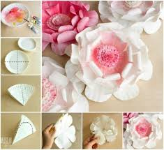 Paper Flower Video Giant Tissue Paper Flowers Video Instructions Paper