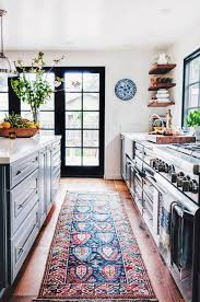 bright and beautiful kitchen rug with vintage vibes