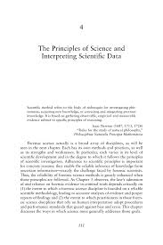 the principles of science and interpreting scientific data page 111