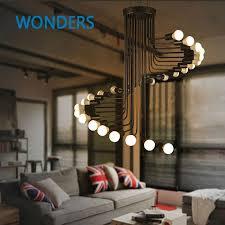 cheap office lighting. loft modern pendant light iron minimalist spiral staircase lamp drop lighting fixture for high ceiling office cheap n