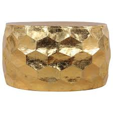 round drum coffee table contemporary hammered gold leaf pertaining to 27